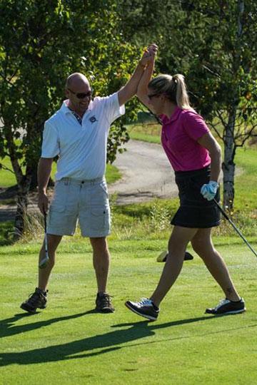 Partie de golf Amicale