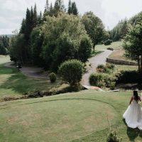 Photo sur le terrain, mariage Royal Laurentien