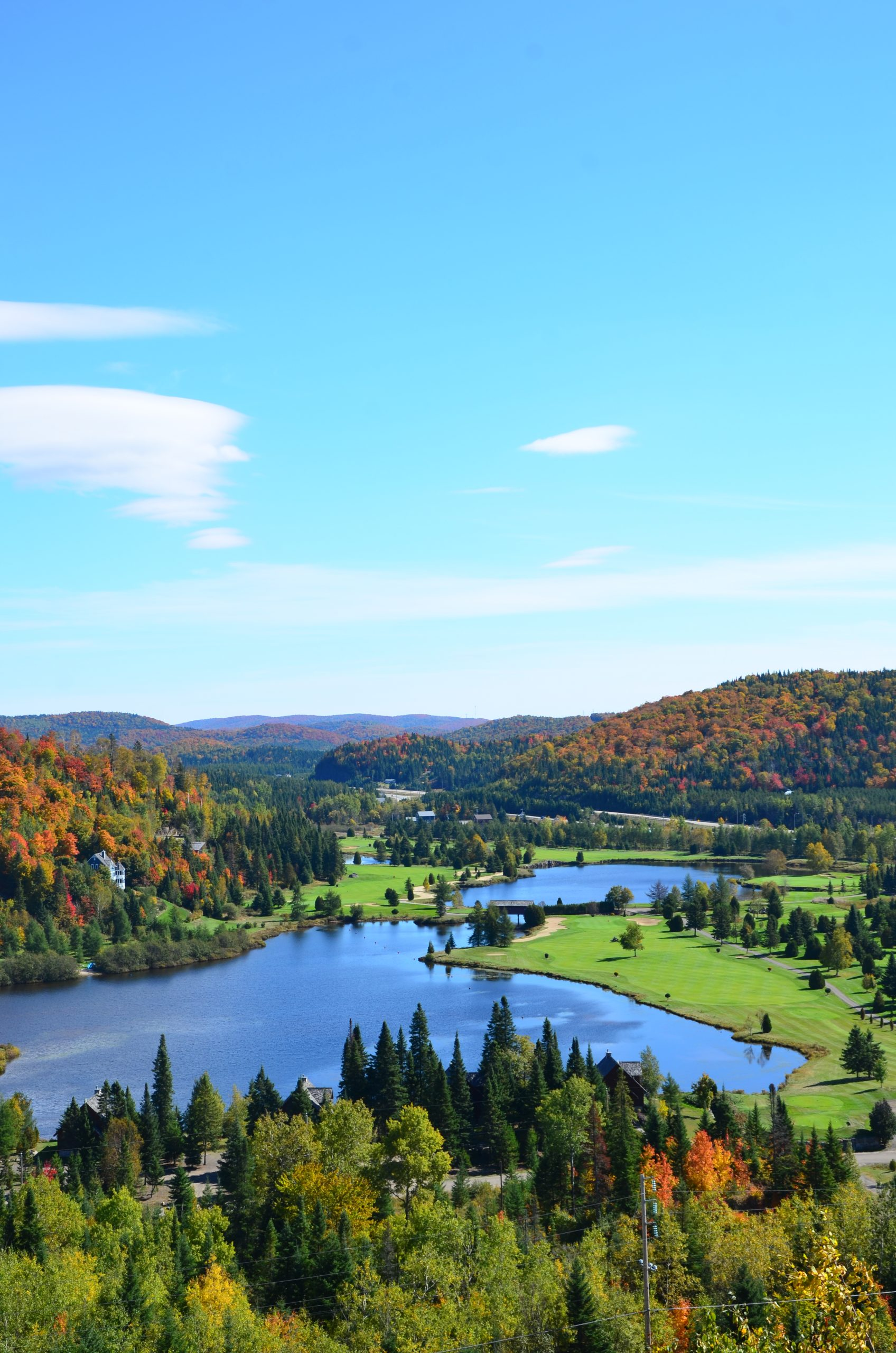 Golf Automne vue aerienne Royal Laurentien
